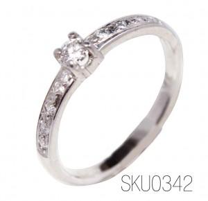 anillos de compromiso oro 10k y 14k con diamantes