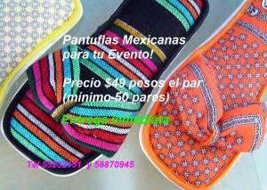 pantuflas mexicanas para recuerdo de tu boda