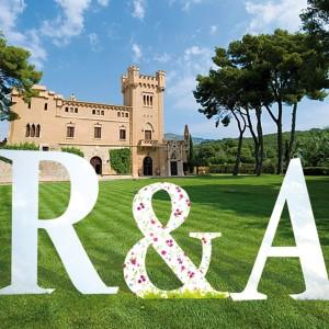 letras gigantes para bodas y otros eventos.