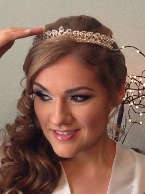 maquillaje y peinado profesional para novias quincea�eras