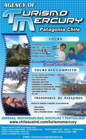 organizamos tours a la patagonia chilena -argentina torres del paine